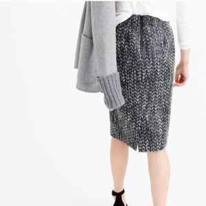 J.Crew no 2 pencil skirt tweed